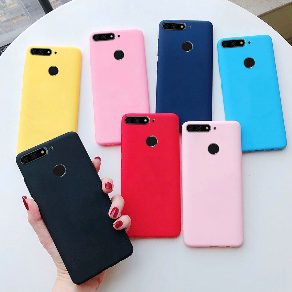 Phone Case For Huawei Y7 2018 / Honor 7C / Y7 Prime 2018 Candy Matte Jelly Color Soft TPU Cases cover