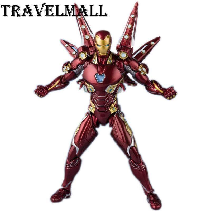 TravelMall Mới Trong Hộp Iron Man MK50 Nano Weapon 15cm PVC Hành động Hình Đồ chơi Tượng Mô hình Siêu anh hùng Infinity War 2 Quà tặng cho Trẻ em