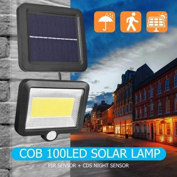 【companionship】COB 100LED Đèn Năng Lượng Mặt Trời Cảm Biến Chuyển Động Chống Nước Ngoài Trời Con Đường Chiếu Sáng Ban Đêm