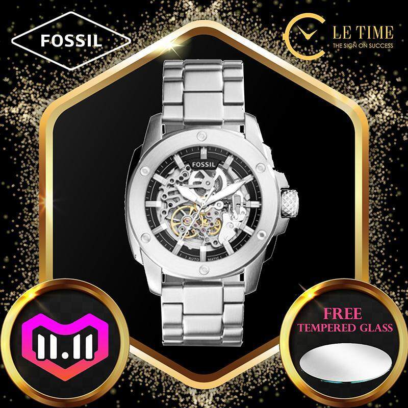 [Authentic *FREE WATCH TEMPERED GLASS*] Fossil Mens Modern Machine Automatic Skeleton Dial Watch Jam Tangan Lelaki ME3081 Malaysia