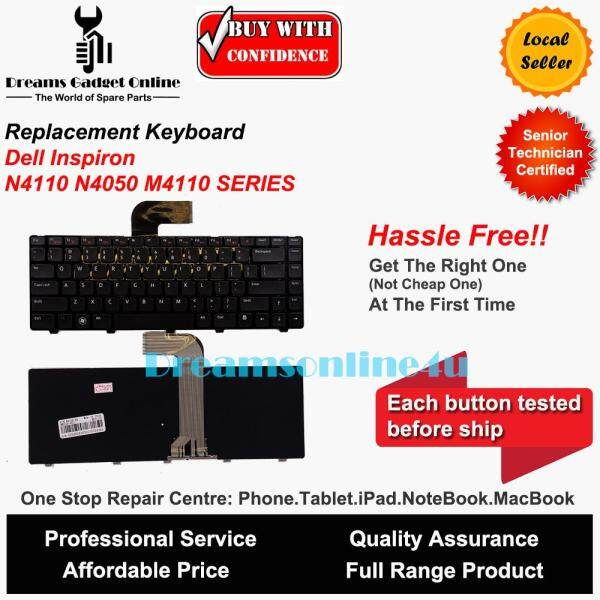 Replacement Keyboard for Dell Inspiron N4110 N4050 M4050 US Keyboard Malaysia