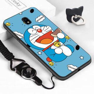 ZQ Ốp Cho Samsung Galaxy J7 Pro J7 2017 J730 (Nhẫn Đeo Tay + Dây Buộc) Vỏ Mèo Doraemon Hoạt Hình Mềm, Ốp Lưng Điện Thoại Cao Su Silicon Chống Sốc thumbnail