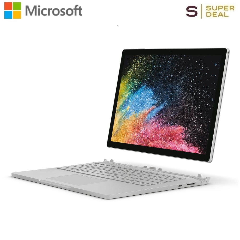 Microsoft 13.5 Surface Book 2 Multi-Touch 2-in-1 Notebook FVH-00001 (Silver) (i7-8650U,16GB RAM,1TB SSD) Malaysia
