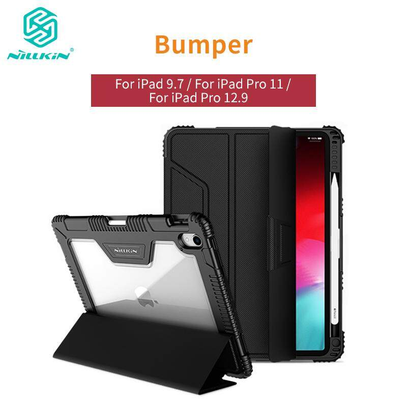 Nillkin for iPad 9 7 2017 2018 / iPad Pro 11 / iPad Pro12 9 2018 Cases PU  Leather + PC Case Smart Flip Cover Shockproof Tough Phone Bags Shell for