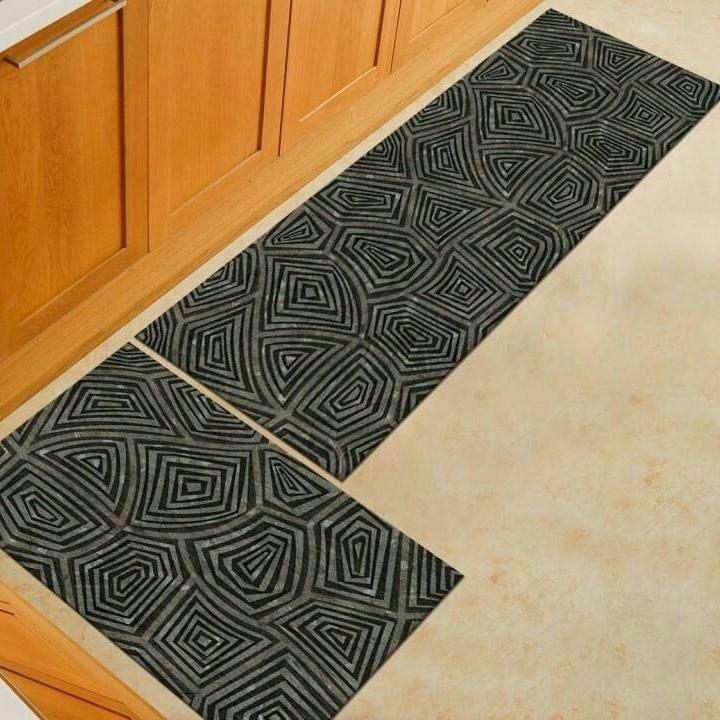 2 Pcs /set Kitchen Mat Carpet Anti Slip By Sc Automation.