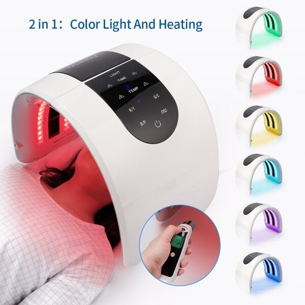 Buy LED Mask Phototherapy Beauty Equipment 7 Colors LED Photon Heating Therapy Facial Mask Skin Firm Spot Acne Remove Device Spa Singapore