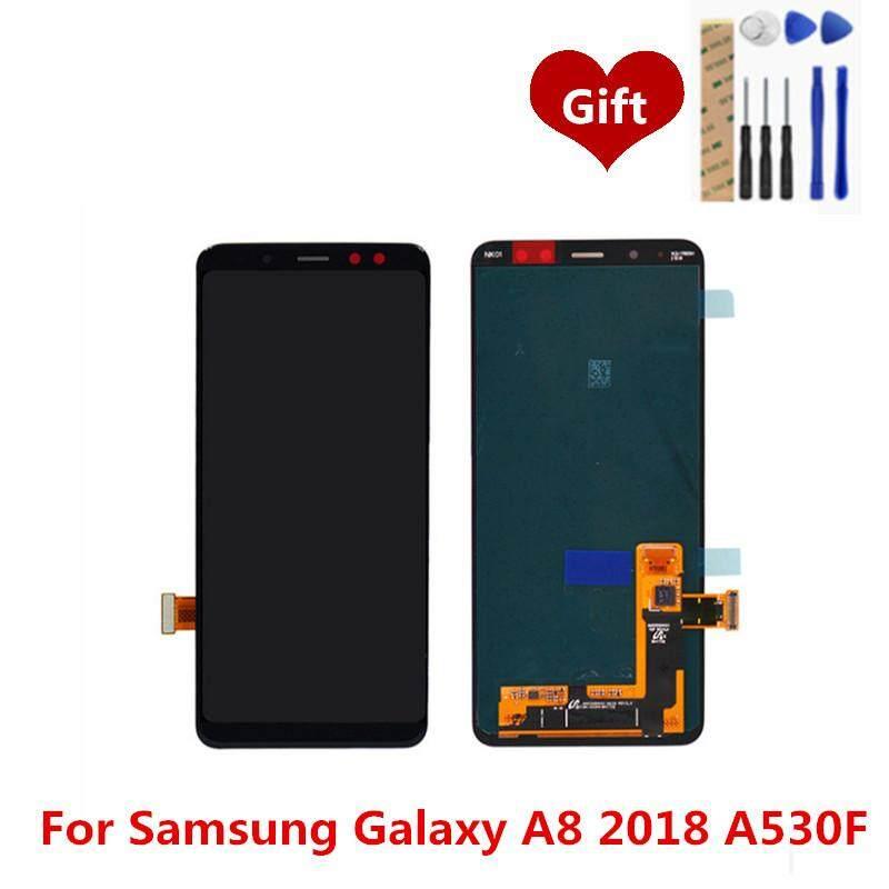 Untuk Samsung Galaxy A8 2018 A530F Layar LCD Digitiser Lengkap LCD Layar Sentuh Panel Perakitan Pengganti Suku Cadang 5.6 Inch