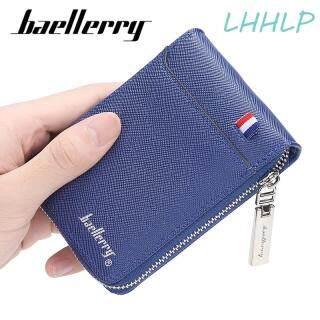 Baellerry Ví đựng thẻ nhiều ngăn có dây kéo, chất liệu da PU, phong cách đơn giản, thời trang, kích thước 11 8 2 CM K9105 - INTL thumbnail