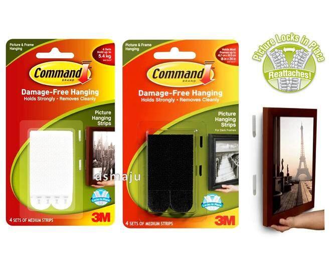 3M Command 5.4KG / 7.2KG Picture Hanging Frame Hanger Wall Stick Organizer 17201