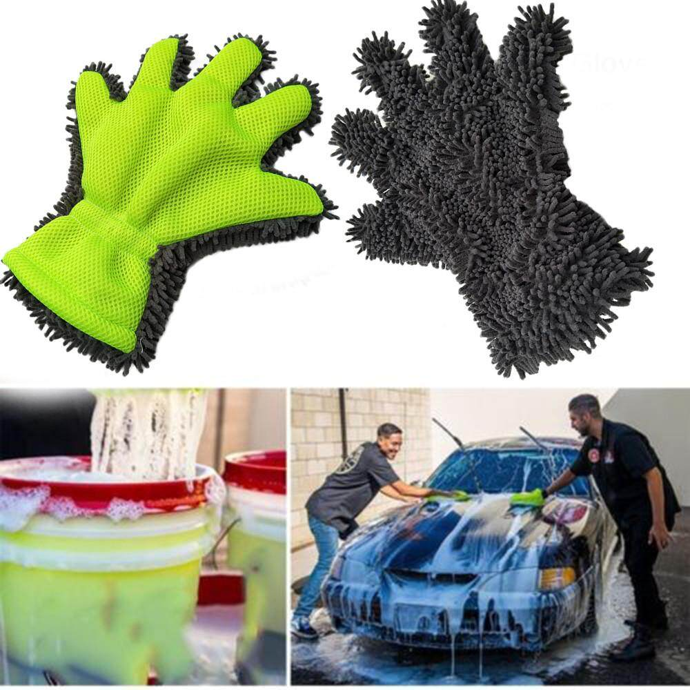 Cleaning High Quality Polishing Cloth Car Wash Gloves Chenille Cleaning Gloves By Hui Zhi Jia Mall.