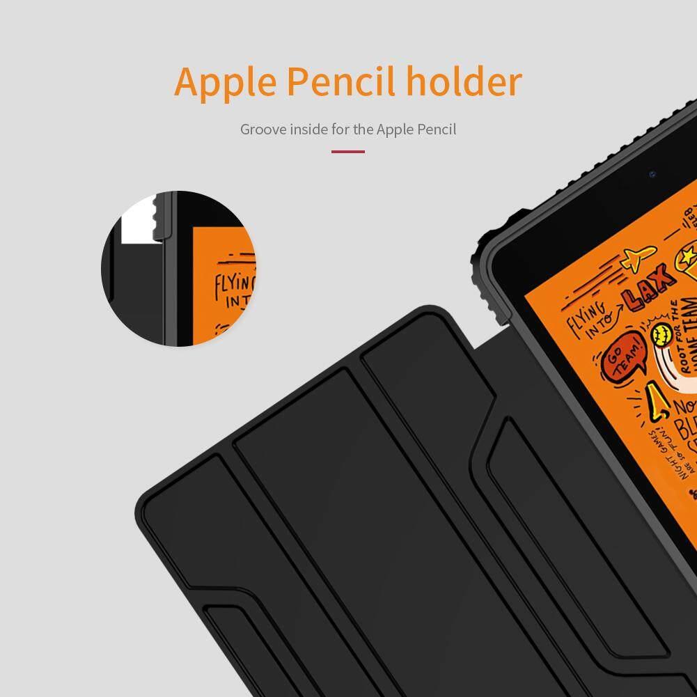Nillkin dành cho iPad Mini 2019 Và iPad Mini 4 Ốp Lưng Da PU + MÁY TÍNH  Trường Hợp Thông Minh Flip Cover Chống Sốc Dẻo Dai túi