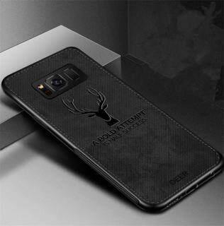Cho [Samsung Galaxy S8 G950] Ốp Lưng Họa Tiết Nai Sừng Tấm Dệt Vải Bạt Mềm Hình Hươu Cổ Điển thumbnail