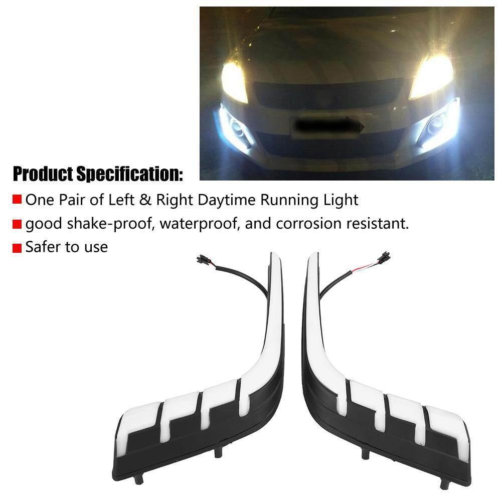 1 Pasang Mobil Siang Hari Lampu Turn Sinyal 2 Warna Kabut DRL LED Lampu untuk Suzuk.i Swift 14-16