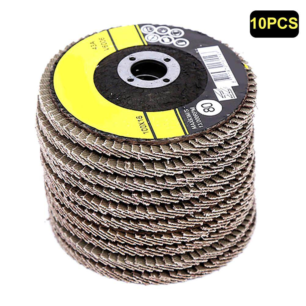 VIP10Pcs 100mm 4inch 80 Grit Flap Sanding Discs Grinding Wheels for Angle Grinder