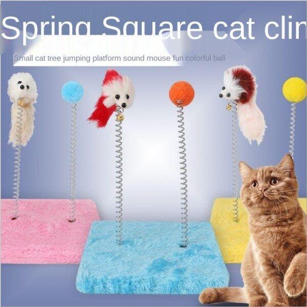 Khung Leo Cho Mèo, Chuột Nhung Cào Cho Mèo Mùa Xuân, Đồ Chơi Mèo Vui Nhộn Đồ Dùng Cho Mèo Kitten Đồ Chơi Đồ Chơi Lò Xo Đôi