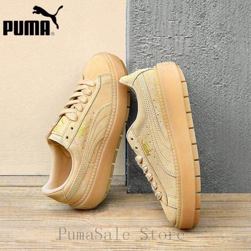 2018 Brand_Pumas Suede Platform Trace Wn Women's Thick Bottom Badminton Shoes 367259-02 EUR35.5-40