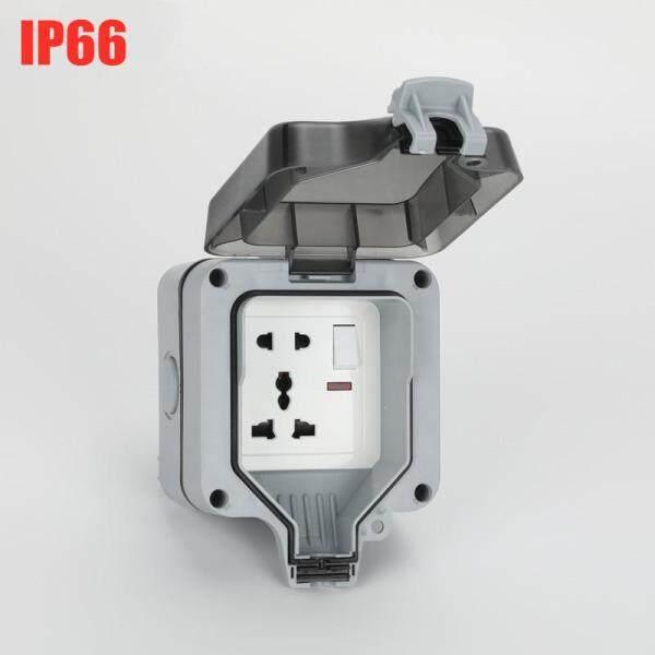 IP66 Ổ Điện Chống Nước Thời Tiết Công Tắc Đèn Pha Ngoài Trời Ổ Cắm Điện Trên Tường 16A Tiêu Chuẩn Ổ Cắm Điện Căn Cứ