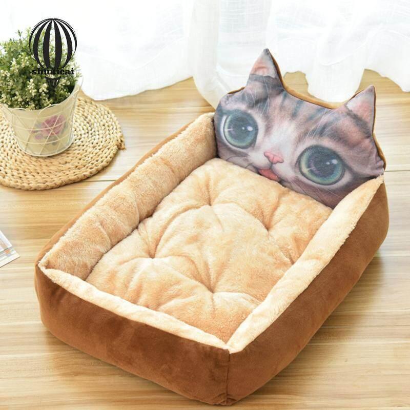 SC Giường Thú Cưng Tổ Ấm Hình Thú Hoạt Hình Dễ Thương Cho Chó Mèo Ngủ