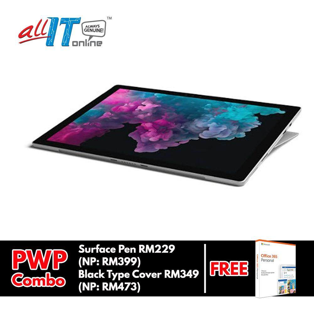 New Microsoft Surface Pro 6 (Intel Core i5, 8GB RAM, 128GB) - Platinum**FREE Office 365 Personal Worth RM219** Malaysia
