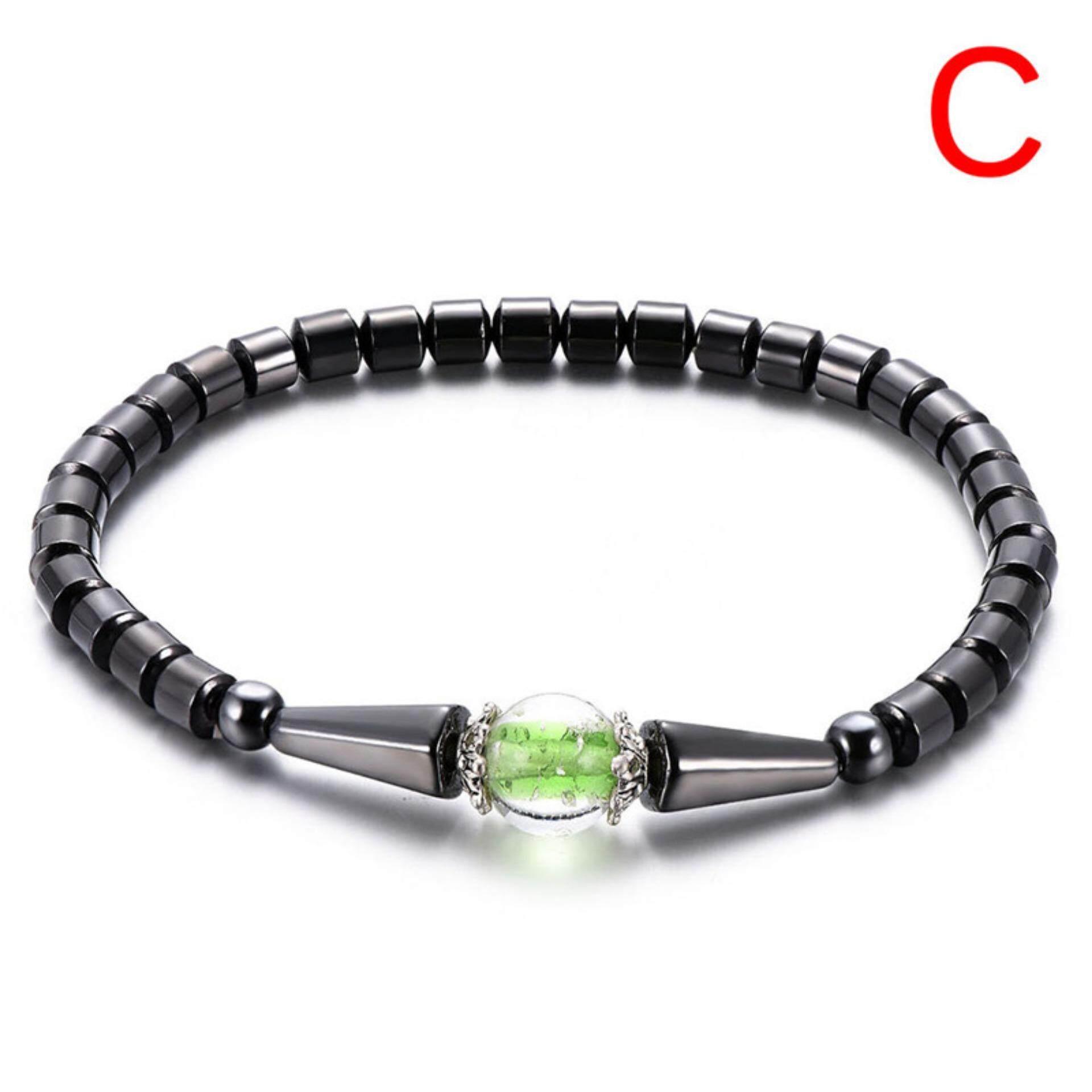 Penurunan Berat Badan Manik-Manik Batu Hitam Gelang Kaki Perawatan Kesehatan Terapi Magnet Gelang Kaki Perhiasan By Buy Tra.