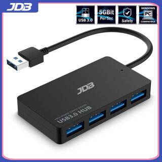 JDB Bộ Chia USB 4 Cổng 3.0 Siêu Mỏng Tốc Độ Cao Hub Dữ Liệu Mở Rộng Di Động Tương Thích Với Chuột, Bàn Phím, Surface Pro, XPS, PS4, Xbox One, Ổ Đĩa Flash, HDD Và Hơn Thế Nữa, Xám 16CM thumbnail