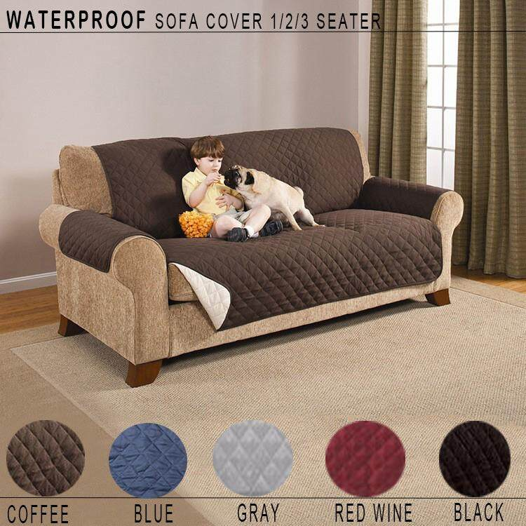 1/2/3 Seater Professional Sofa Cover  Non-slip Pet Protective Slipcover Seat Back And Forth Disposable Waterproof Furniture Cover