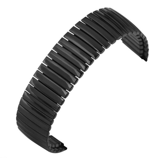 AIKEN Black 20/22mm Stretchable Watch Band Elastic Stainless Steel Strap Polished Replacement Bracelet Malaysia