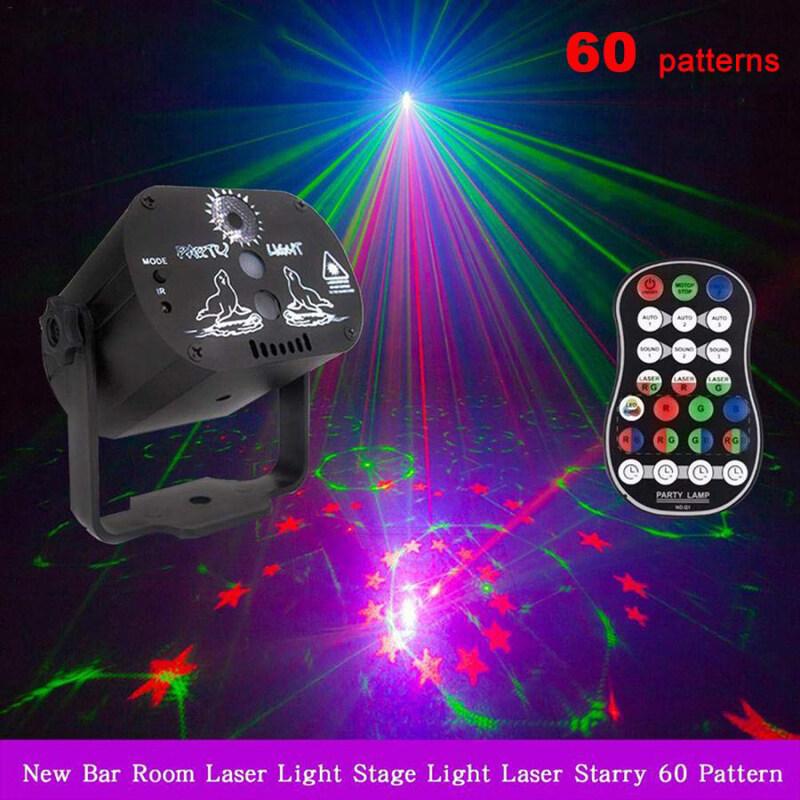 60 Mẫu Đèn Led Sàn Nhảy RGB 5V USB Sạc Lại Đèn Chiếu Laser RGB Đèn Chiếu Sáng Sân Khấu Cho Bữa Tiệc Gia Đình KTV Sàn Nhảy DJ