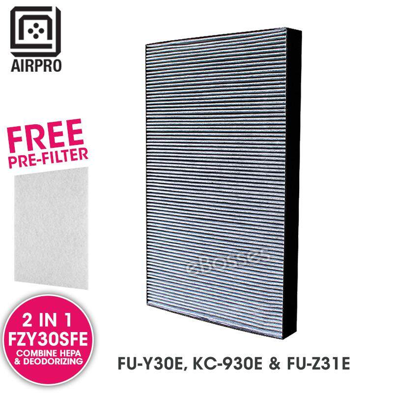 Airpro For Sharp Fzy30sfe Replacement Air Purifier Combine Hepa Deodorizing Filter For Fu-Y30e, Kc-930e & Fu-Z31e By Ebosses Store.