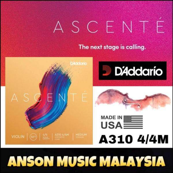 DAddario Ascenté Violin String Set, 4/4 Scale, Medium Tension(A310 4/4M) (Daddario) Malaysia