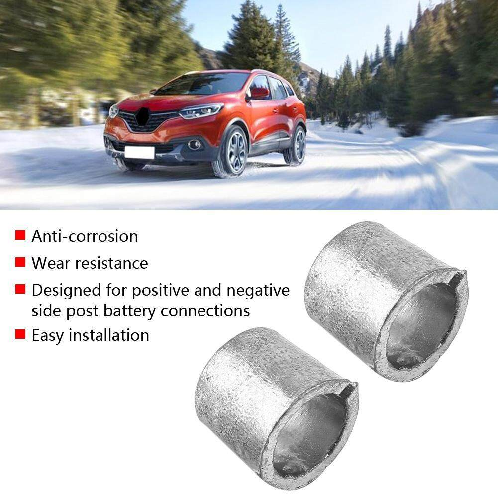 1 Pair Car Battery Terminal Converter Post Adaptors Anode Cathode Sleeves By Shanyustore.