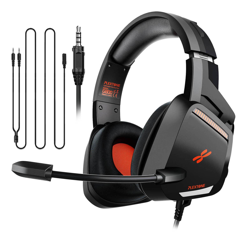 PLEXTONE G800 Gaming Headset Headphones Premier E-Sports Set with LED Light Mic On Ear Earphones