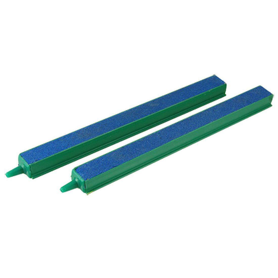 "2 Pcs Fish Tank Air Bubble Airstone Bar 8"" Green Blue"