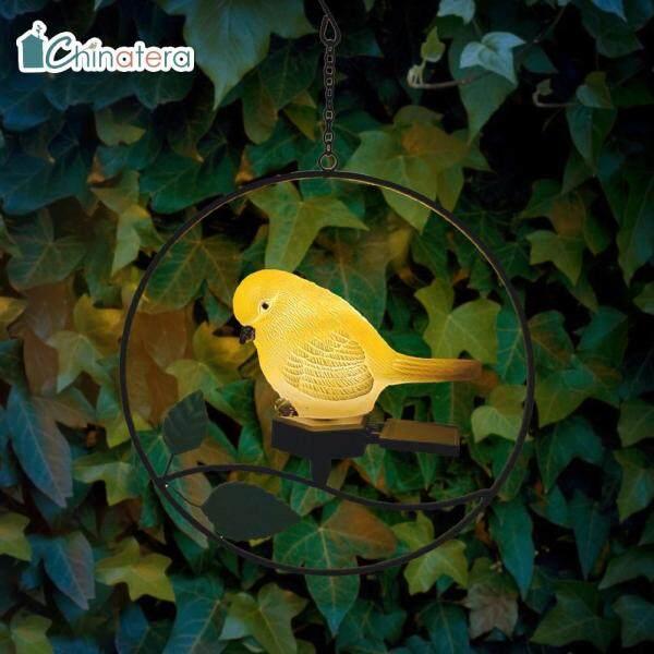 [Chinatera] Dễ Thương Chim Nhựa LED Treo Năng Lượng Mặt Trời Ánh Sáng Không Thấm Nước Ngoài Trời Bãi Cỏ Sân Vườn Trang Trí Nghệ Thuật Sắt Đèn Ngủ