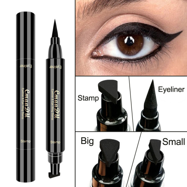 Bút Kẻ Mắt Nước Enerbeauty Bút Chì Siêu Chống Thấm Nước Đen Hai Đầu Tem Kẻ Mắt Maquiagem Dụng Cụ Trang Điểm Mỹ Phẩm