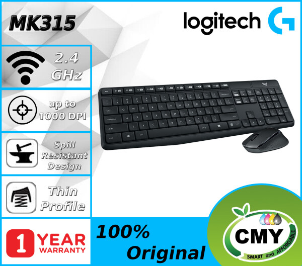 Logitech MK315 Quiet and Durable Wireless Combo Keyboard + Mouse (920-009068) Malaysia