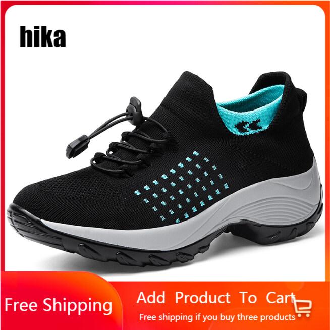 HIKA Giày Nữ Thường Ngày, Đi Bộ Mùa Hè Sneakers Giày Đế Bằng Buộc Dây Lưới Cho Nữ Sneakers Phụ Nữ Giày Lưu Hóa, Người Phụ Nữ Tenis Feminino giá rẻ