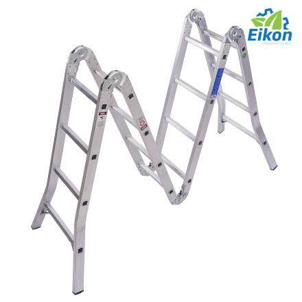 High Quality Steel 14 Steps Foldable Ladder