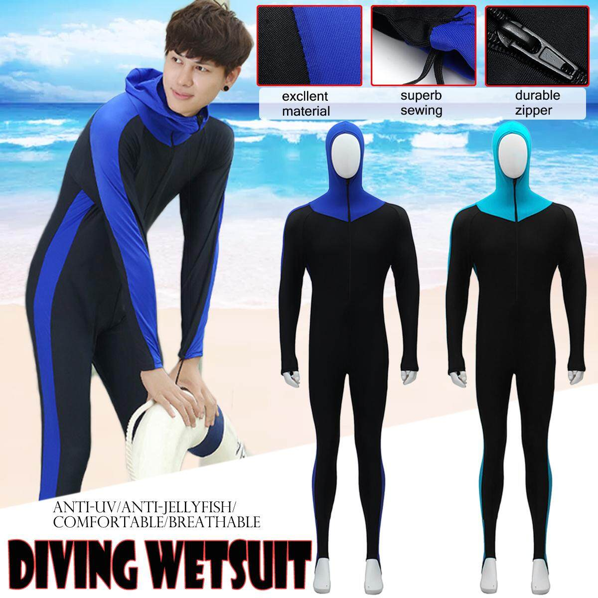【Free Shipping + Flash Deal】Men Scuba Diving Suit Wetsuit Full Body Long Sleeve