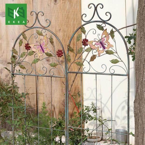 Ekea Iron Flower Climbing Frame Climbing Vintage Garden Patio Wall Fence Flower Insert