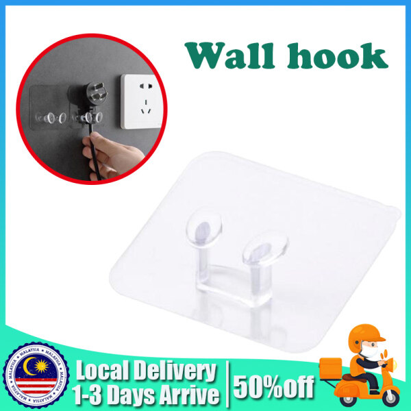 Transparent Plug Wall Mount Bracket Kitchen Wall Strong Adhesive Hook Creative Socket Hook