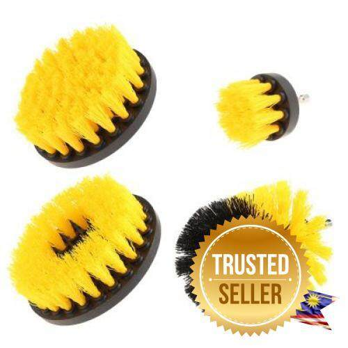 4PCS Electric Drill Cleaning Nylon Brush (YELLOW)