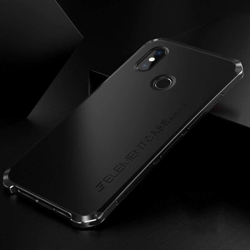 Shockproof Elemen Casing Logam untuk Xiaomi Redmi Note 6/Note 6 Pro Bumper Logam Aluminium Bagian Belakang Keras PC Cover untuk Redmi Note 6