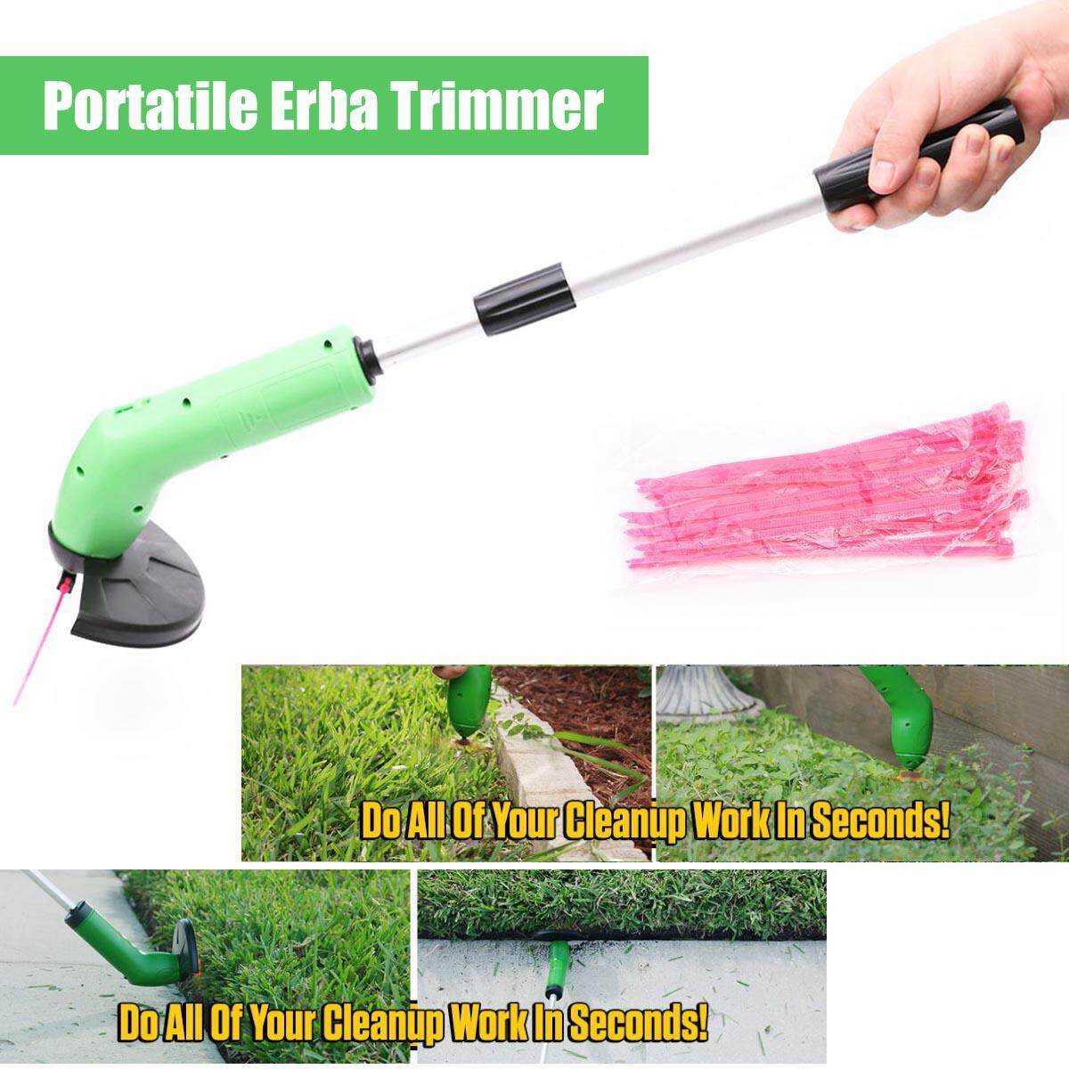 Home Garden Portable Lawn Mower Home Electric Weeding Machine With Telescopic Rod Battery Operated