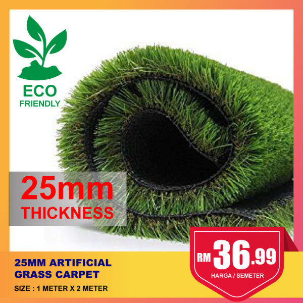 [READY STOCK]【2M X 1M】25MM Artificial Grass Premium Quality Carpet Grass For Indoor & Outdoor