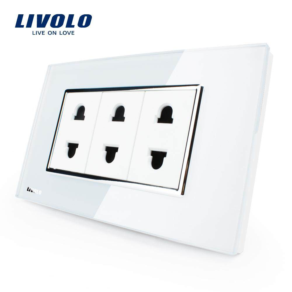 Livolo US Standard 2 Pins Socket,Italian Socket Socket ,White/Black Wall Powerpoints Without Plug