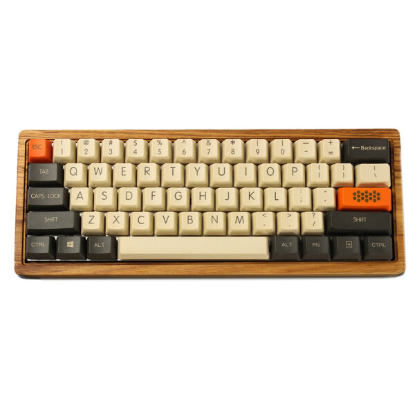 YMDK Carbon 61 87 104 Top Print Blank Keyset Thick PBT OEM Profile Keycaps Suitable For MX Mechanical Keyboard