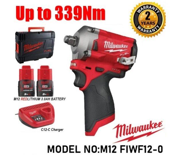 Milwaukee 1/2 Cordless Stubby Impact Wrench M12 FIWF12-302