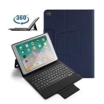 GoodGreat คีย์บอร์ด iPad Case 9.7, คีย์บอร์ด iPad สำหรับ 2018new iPad, 2017NEW iPad9.7, iPad pro9.7, iPad air2, iPad Air1, 360 Rotatable Bluetooth คีย์บอร์ดบางเฉียบ Auto SLEEP/Wake หลายมุม-