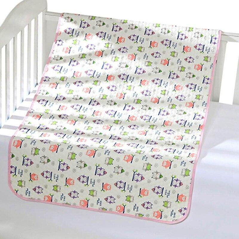 Reusable Baby Infant Waterproof Urine Mat Cover Burp Pure Cotton Changing Pad